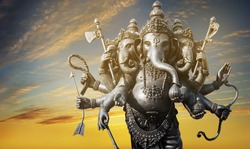 Lord Ganesha , Ganesha Festival Golden Ganesha has old power in religious sites that are separated from the latter