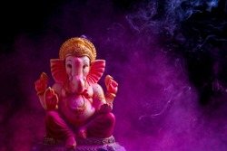 Lord Ganesha , Ganesha Festival , Lord Ganesha on colorful Background