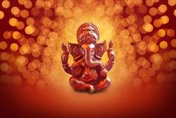 Lord Ganesha with Blured bokhe background