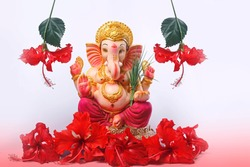 Lord Ganesha with flowers
