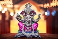 Lord Ganpati background for Ganesh Chaturthi festival of India, Ganpati