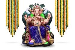 Lord ganpati with festive beautiful background, Ganpati, happy Ganesh Chaturthi
