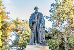 Lord Kelvin Statue in the Belfast's Botanic Gardens, North Ireland.