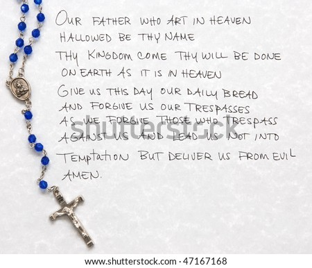 lord's prayer with rosary
