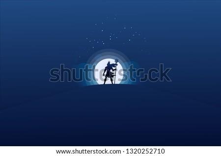 Lord Shiva flat design illustration