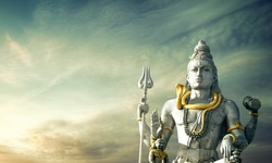 lord shiva statue murudeshwara karnataka india shivaratri
