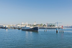 Lorient harbor, docks, Brittany
