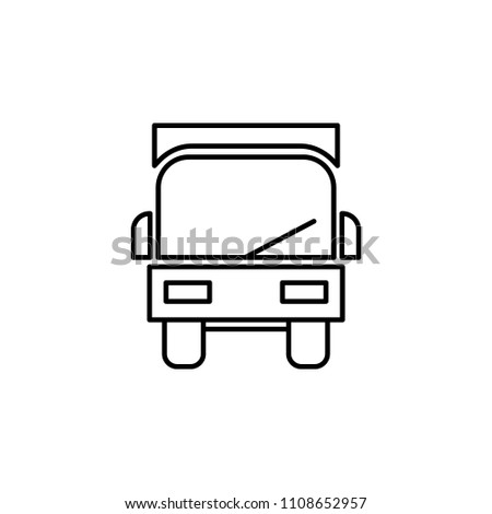 lorry from the front outline icon. Element of logistic icon for mobile concept and web apps. Thin line lorry from the front outline icon can be used for web and mobile on white background
