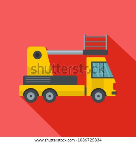 Lorry platform icon. Flat illustration of lorry platform icon for web