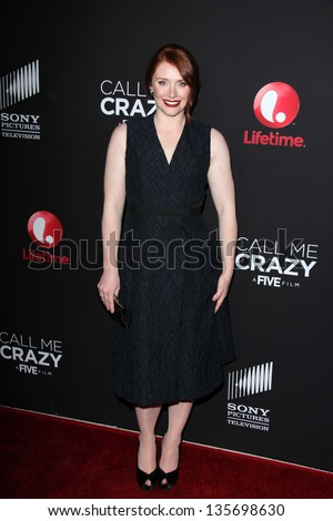 """LOS ANGELES - APR 16:  Bryce Dallas Howard arrives at the """"Call Me Crazy: A Five Film"""" Premiere at the Pacific Design Center on April 16, 2013 in West Hollywood, CA"""