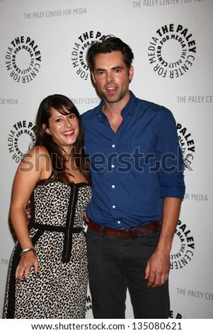 kimberly mccullough jason thompson arrives at the general hospital