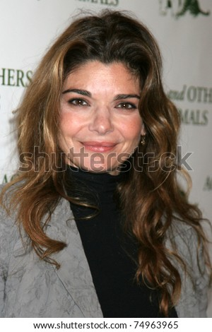 "LOS ANGELES - APR 9:  Laura San Giacomo in the green room of ""Actors and Others for Animals"" Annual Fundraiser 2011 at Universal Hilton Hotel on April 9, 2011 in Los Angeles, CA"
