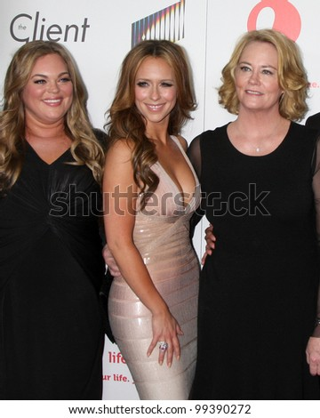 """LOS ANGELES - APR 4:  Rebecca Field, Jennifer Love Hewitt, Cybill Shepherd arriving at the """"The Client List"""" Launch Party at Sunset Tower Hotel on April 4, 2012 in West Hollywood, CA"""