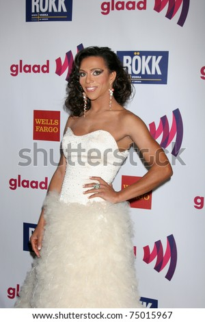 LOS ANGELES - APR 10:  Sahara Davenport aka Antoine Ashley arriving at the 25th GLADD Media Awards  at Westin Bonaventure Hotel on April 10, 2011 in Los Angeles, CA