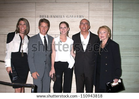 "LOS ANGELES - AUG 23:  Colleen Bell, Bradley Bell, Lauralee Bell, Bill Bell, Jr; Lee Phillip Bell  arrive at ""The Young & Restless"" at the Paley Centeron August 23, 2012 in Beverly Hills, CA - stock photo"
