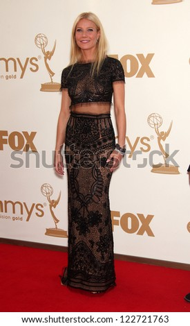 LOS ANGELES - AUG 11:  GWYNETH PALTROW arriving to Emmy Awards 2011  on August 11, 2012 in Los Angeles, CA