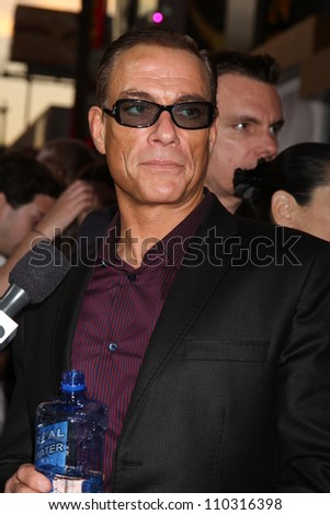 "Los Angeles - AUG 15:  Jean-Claude Van Damme arrives at the ""The Expendables 2""  Premiere at Graumans Chinese Theater on August 15, 2012 in Los Angeles, CA"
