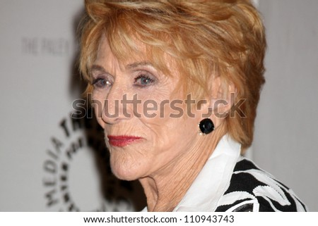 """LOS ANGELES - AUG 23:  Jeanne Cooper arrives at """"The Young & Restless"""": Celebrating 10,000 Episodes at Paley Center for Media on August 23, 2012 in Beverly Hills, CA"""