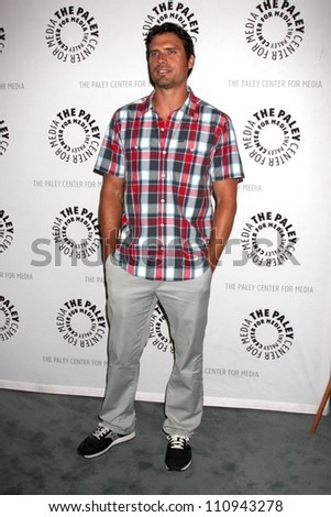 "LOS ANGELES - AUG 23:  Joshua Morrow arrives at ""The Young & Restless"": Celebrating 10,000 Episodes at Paley Center for Media on August 23, 2012 in Beverly Hills, CA"
