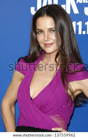 LOS ANGELES - AUG 6: Katie Holmes at the World premiere of 'Jack And Jill' at Village Theater in Westwood, California on August 6, 2011 - stock photo