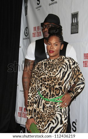 "LOS ANGELES - AUG 28:  Omar Epps, Keisha Epps arrives at ""You, Me & The Circus"" Premiere at SupperClub on August  28, 2012 in Los Angeles, CA - stock photo"