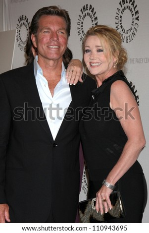 """LOS ANGELES - AUG 23:  Peter Bergman, Melody Thomas Scott arrives at """"The Young & Restless"""": Celebrating 10,000 Episodes at Paley Center for Media on August 23, 2012 in Beverly Hills, CA"""