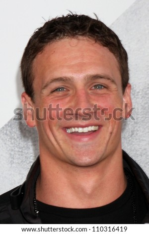 "Los Angeles - AUG 15:  Ryan Lochte arrives at the ""The Expendables 2""  Premiere at Graumans Chinese Theater on August 15, 2012 in Los Angeles, CA"