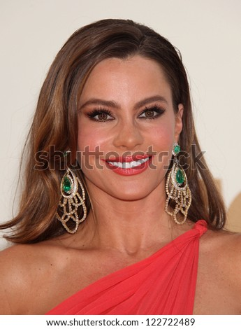 LOS ANGELES - AUG 11:  SOFIA VERGARA arriving to Emmy Awards 2011  on August 11, 2012 in Los Angeles, CA