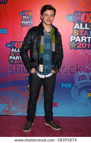 LOS ANGELES - AUGUST 2:  Chris Colfer  arrives at the 2010 FOX Summer Press Tour Party at Pacific Park on the Santa Monica Pier on August 2, 2010 in Santa Monica, CA