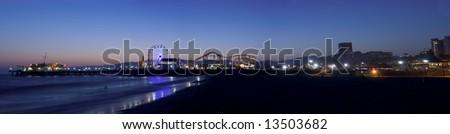 Los Angeles beach panoramic
