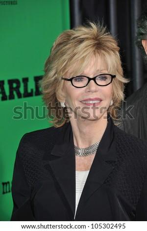 LOS ANGELES, CA - APRIL 17, 2012: Jane Fonda at the Los Angeles premiere of Marley at the Cinerama Dome, Hollywood. April 17, 2012  Los Angeles, CA