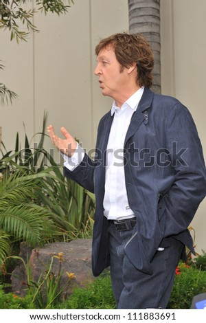 LOS ANGELES, CA - APRIL 14, 2009: Paul McCartney at Hollywood Walk of Fame star ceremony honoring the late George Harrison.