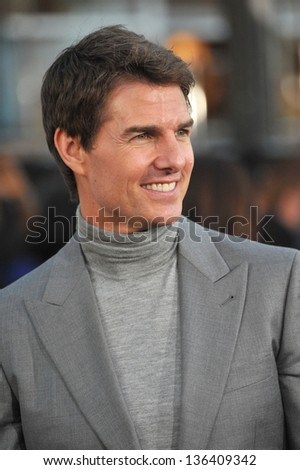 "LOS ANGELES, CA - APRIL 10, 2013: Tom Cruise at the American premiere of his new movie ""Oblivion"" at the Dolby Theatre, Hollywood."