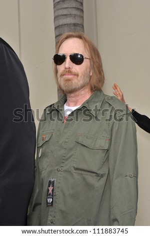 LOS ANGELES, CA - APRIL 14, 2009: Tom Petty at Hollywood Walk of Fame star ceremony honoring the late George Harrison.