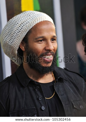 LOS ANGELES, CA - APRIL 17, 2012: Ziggy Marley at the Los Angeles premiere of Marley at the Cinerama Dome, Hollywood. April 17, 2012  Los Angeles, CA