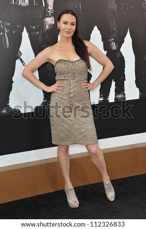 """LOS ANGELES, CA - AUGUST 16, 2012: Actress Jon Mack at the Los Angeles premiere of """"The Expendables 2"""" at Grauman's Chinese Theatre, Hollywood."""