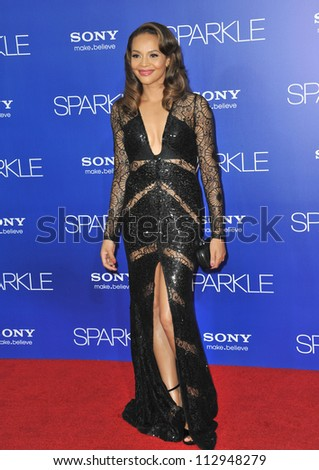 "LOS ANGELES, CA - AUGUST 16, 2012: Carmen Ejogo at the world premiere of her movie ""Sparkle""  at Grauman's Chinese Theatre, Hollywood. - stock photo"