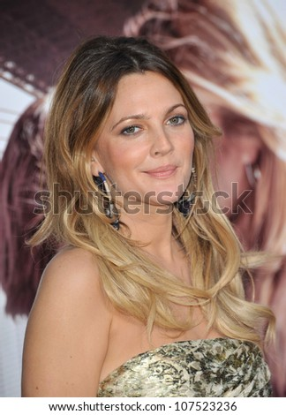 "LOS ANGELES, CA - AUGUST 23, 2010: Drew Barrymore at the Los Angeles premiere of her new movie ""Going the Distance"" at Grauman's Chinese Theatre, Hollywood."