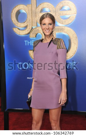 """LOS ANGELES, CA - AUGUST 6, 2011: Heather Morris at the world premiere of """"Glee The 3D Concert Movie"""" at the Regency Village Theatre, Westwood. August 6, 2011  Los Angeles, CA"""