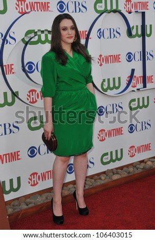 LOS ANGELES, CA - AUGUST 3, 2011: Kat Dennings, star of 2 Broke Girls, at the CBS Summer 2011 TCA Party at The Pagoda, Beverly Hills. August 3, 2011  Los Angeles, CA