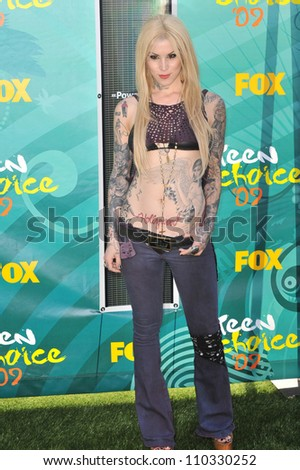 LOS ANGELES, CA - AUGUST 9, 2009: Kat Von D at the 2009 Teen Choice Awards at the Gibson Amphitheatre, Universal City.