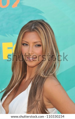 LOS ANGELES, CA - AUGUST 9, 2009: Kim Kardashian at the 2009 Teen Choice Awards at the Gibson Amphitheatre, Universal City.