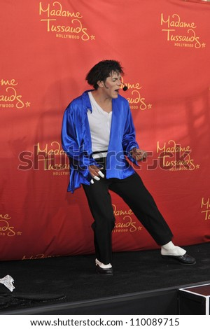 LOS ANGELES, CA - AUGUST 27, 2009: Performer Joby Rogers at the unveiling of Michael Jackson's new $300,000 wax figure at Madame Tussauds Hollywood.