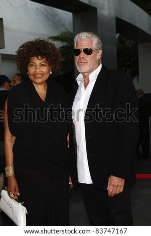 CA - AUGUST 30: Ron Perlman; wife at the FX's 'Sons Of Anarchy