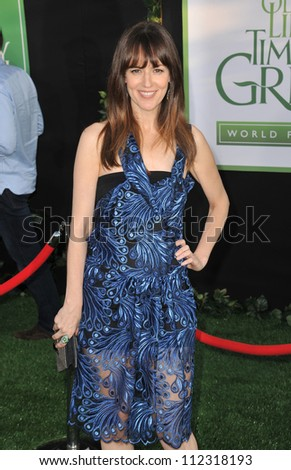 "LOS ANGELES, CA - AUGUST 7, 2012: Rosemarie DeWitt at the world premiere of her movie ""The Odd Life of Timothy Green"" at the El Capitan Theatre, Hollywood."