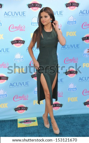 LOS ANGELES, CA - AUGUST 11, 2013: Selena Gomez at the 2013 Teen Choice Awards at the Gibson Amphitheatre, Universal City, Hollywood.