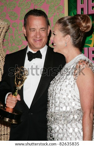 LOS ANGELES, CA - AUGUST 29: Tom Hanks & Rita Wilson arrive at HBO's Annual Post Emmy Awards Party at the Pacific Design Center on August 29, 2010 in West Hollywood, California.