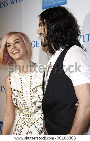 LOS ANGELES, CA - DEC 3: Katy Perry; Russell Brand at the 3rd Annual 'Change Begins Within' Benefit Celebration presented by The David Lynch Foundation at LACMA on December 3, 2011 in Los Angeles, CA