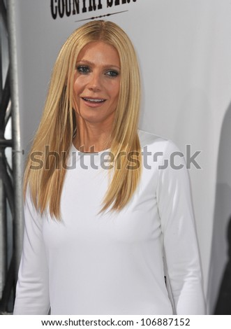 "LOS ANGELES, CA - DECEMBER 14, 2010: Actress Gwyneth Paltrow at the premiere of ""Country Strong"" at the Academy of Motion Picture Arts & Sciences Theatre, Beverly Hills."