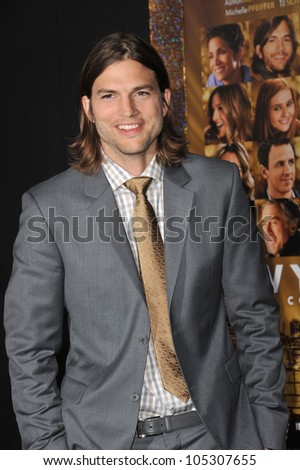 "LOS ANGELES, CA - DECEMBER 5, 2011: Ashton Kutcher at the world premiere of his new movie ""New Year's Eve"" at Grauman's Chinese Theatre, Hollywood. December 5, 2011  Los Angeles, CA"